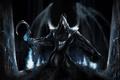 Картинка ночь, арт, капюшон, Diablo 3, серп, Reaper of Souls