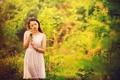 Картинка лето, девушка, природа