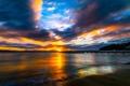 Картинка море, закат, побережье, Новая Зеландия, пирс, Wellington