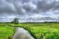 Картинка Nature, Clouds, Netherlands, Forest, Stream, Drenthe, Assen