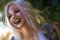 Картинка девушка, улыбка, настроение, смех, арт, блондинка