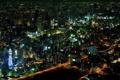 Картинка свет, ночь, огни, здания, дома, небоскребы, Япония