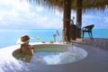 Картинка солнце, океан, релаксация, уединение, девушка, ванна