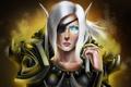 Картинка World of Warcraft, повязка, WoW, доспехи, эльфийка, шрам