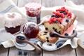 Картинка ягоды, натюрморт, джем, кекс
