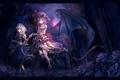Картинка девушки, розы, крылья, демоны, touhou, remilia scarlet, izayoi sakuya