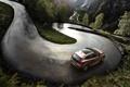 Картинка Дорога, Volvo, Машина, Асфальт, Внедорожник, V40, В Движении