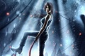 Картинка вода, девушка, азия, арт, lara croft, кирка, Tomb Raider Reborn