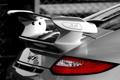 Картинка Порше, авто, черная, спойлер, Back, 997 GT3, сзади