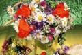 Картинка Ромашки, Цветы, фото, Букет, Маки, Клубника, Васильки