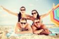 Картинка пляж, лето, отдых, влюбленные пары