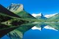 Картинка лес, горы, озеро, Монтана, США, национальный парк