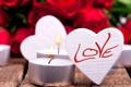 Картинка любовь, сердце, розы, свечи