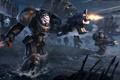 Картинка вода, оружие, меч, роботы, войны, броня, black templars