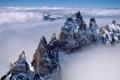 Картинка облака, горы, анды, туман