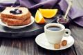 Картинка джем, завтрак, еда, апельсин, хлеб, блюдце, дольки