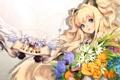Картинка девушка, цветы, арт, уши, vocaloid, вокалоид, seeu