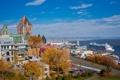 Картинка небо, город, фото, дома, Канада, Quebec