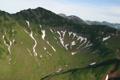 Картинка трава, фото, Камчатка, горы, снег, ущелье