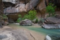 Картинка деревья, река, камни, скалы, каньон, ущелье
