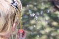 Картинка камни, мыльные пузыри, девочка, ободок