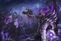 Картинка лес, эльф, Dragmar, world of warcraft, парень, арт, магия