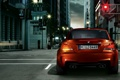 Картинка город, улица, BMW, светофор, БМВ, 1 Series, M Coupe