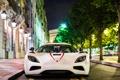 Картинка огни, город, ночь, AgeraR, Koenigsegg