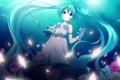 Картинка девушка, цветы, лепестки, арт, vocaloid, hatsune miku, вокалоид