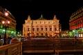 Картинка ночь, огни, Франция, Париж, дома, театр, опера