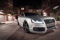 Картинка ночь, Audi, ауди, здание, тень, серебристый, silvery