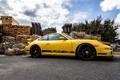 Картинка 911, 997, Porsche, sky, yellow, wood, GT3