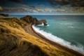 Картинка скала, побережье, Англия, арка, Дорсет