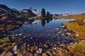 Картинка горы, озеро, домик, Canada, Фотограф IvanAndreevich