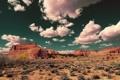 Картинка небо, облака, скалы, пустыня, сша, юта