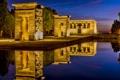 Картинка вода, ночь, огни, освещение, Испания, Мадрид, Западный парк