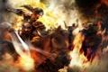 Картинка девушка, огонь, конь, битва, Dinasty Warriors