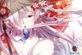 Картинка девушка, цветы, бабочка, зонт, аниме, арт, shoufukucho