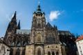 Картинка небо, готика, башня, Прага, Чехия, собор Святого Вита