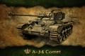 Картинка A-34 Comet, танк, танки, Великобритания, World of Tanks, Англия, арт