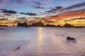 Картинка закат, пейзаж, море, маяк
