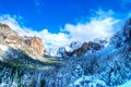 Картинка зима, небо, горы, природа, парк, фото, ель