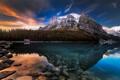 Картинка природа, горы, Канада, отражение, озеро