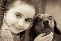 Картинка улыбка, собака, девочка, такса, друзья