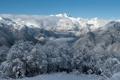 Картинка зима, горы, дервья, снег