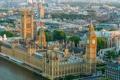 Картинка Англия, парламент, Лондон, панорама