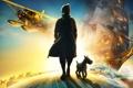 Картинка самолет, корабль, собака, приключения, The Adventures of Tintin, Tintin