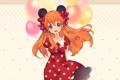 Картинка девушка, шарики, улыбка, аниме, арт, sakura chiyo, Gekkan Shoujo Nozaki-kun
