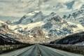 Картинка road, landscape, mountains, Canadian Rockies