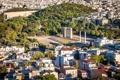 Картинка Athens, Афины, колонны, площадь, архитектура, деревья, дома